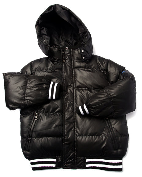 Arcade Styles - Boys Black Steele Classic Bubble Jacket (8-20) - $45.99