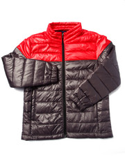 Heavy Coats - CHILL FACTOR TWO TONE POLYFILL BUBBLE JACKET (8-20)