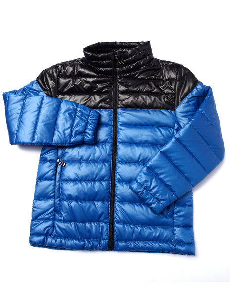 Arcade Styles - Boys Blue Chill Factor Two Tone Polyfill Bubble Jacket (8-20) - $16.99