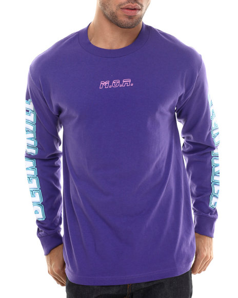 Been Trill - Men Purple M.O.R. 2 L/S Tee