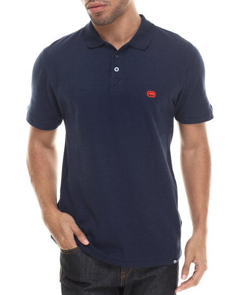 Ecko - Men Blue Basic Ecko Cotton Polo - $20.99