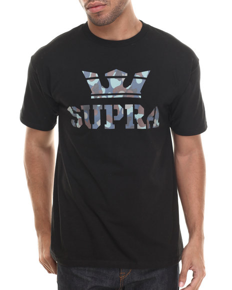 Supra - Men Black,Multi Above Tee