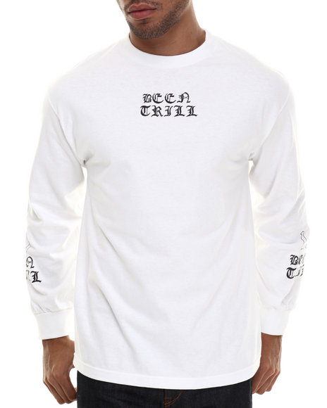 Been Trill - Men White Gangsta L/S Tee