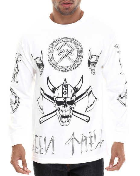 Been Trill - Men White Viking L/S Tee