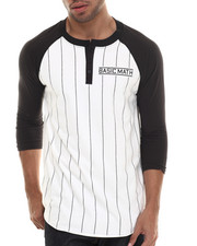 Men - Pinstriped Signature 3/4 Sleeve Raglan Henley