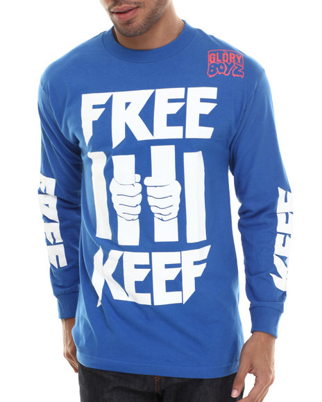 Been Trill - Men Blue Free Keef L/S Tee
