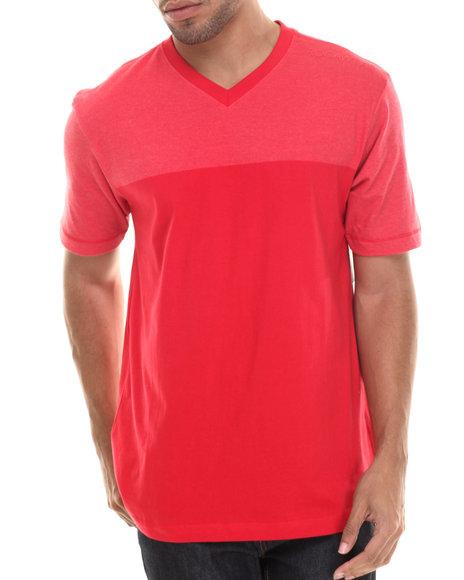 Rocawear - Men Red S/S Jmz V-Neck Tee - $16.99