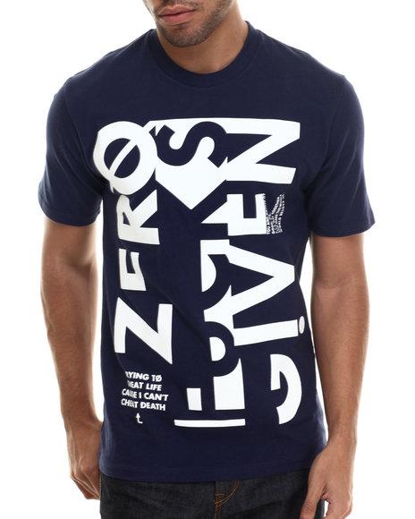 Rocawear Blak - Men Navy S/S Zero Tee - $24.99