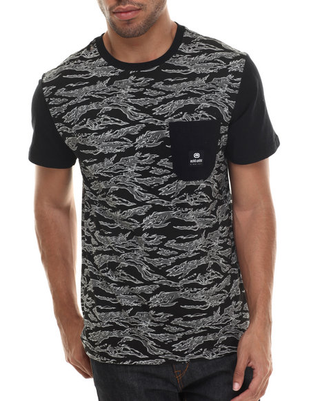 Ecko - Men Black Contrast Print Sleeve T-Shirt