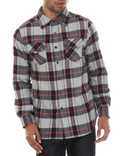 Men - E L X R Traditional Small - Gauge Plaid Flannel Button-Down