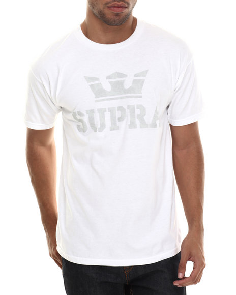 Supra - Men White Above Tee