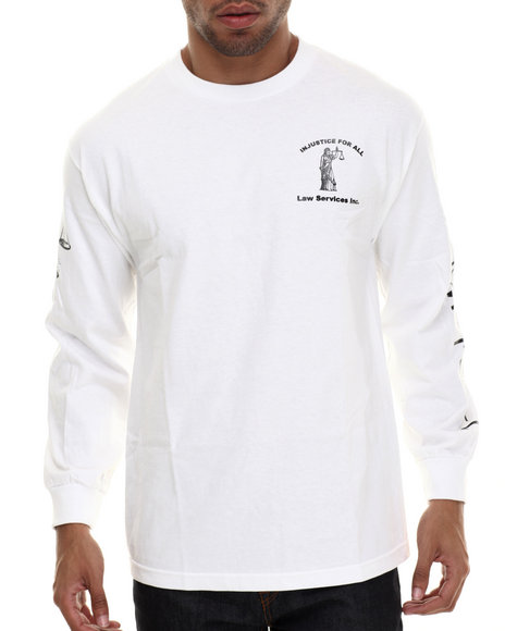 Been Trill - Men White Injustice L/S Tee