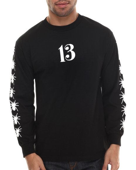 Been Trill - Men Black Spider Web L/S Tee