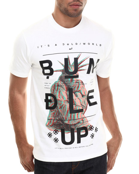 Ur-ID 206844 Rocawear BLAK - Men White S/S Bundle Up Tee