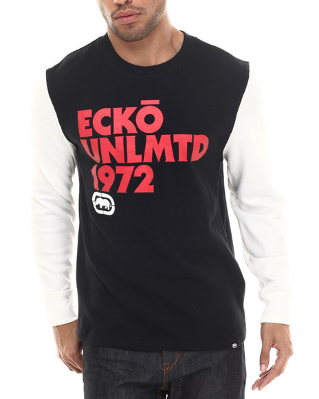 Ecko - Men Black Ecko Print Thermal