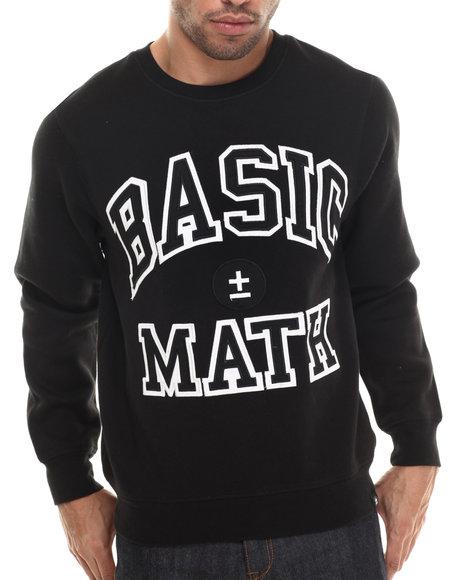 Basic Math Black Pullover Sweatshirts
