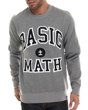 Sweatshirts & Sweaters - Basic Math Crewneck Sweatshirt W/ Twill Applique