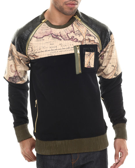 Frost Originals - Men Black Trailblazer Crewneck Sweatshirt