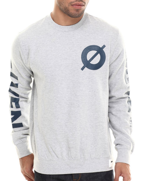 Rocawear Blak - Men Grey Zero Crew Fleece Sweatshirt