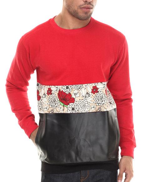 Buyers Picks - Men Red Paradise Crewneck Sweatshirt