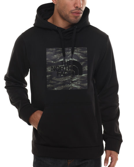 The North Face - Men Black Tiger Camo Red Boxsurgent Pullover Hoodie