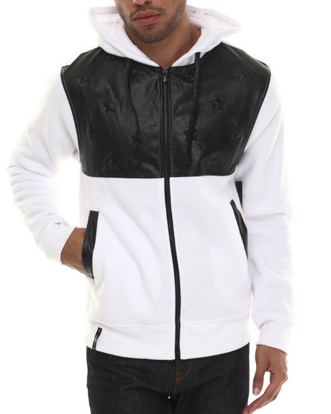 Enyce - Men White Eagor Full Zip Hoodie