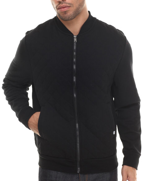 Ecko - Men Black Quilted Fleece Jacket