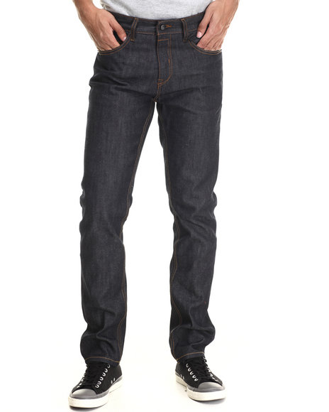 Rocawear Blak - Men Raw Wash Blak Slim Fit Jeans