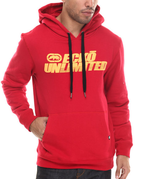 Ecko - Men Red Ecko Screenprint Hoodie