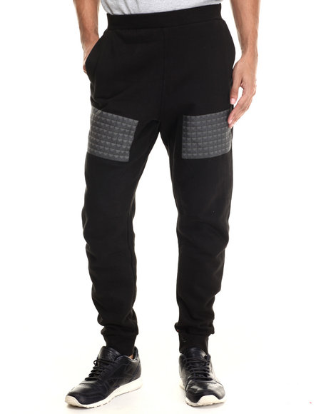 Rocawear Blak - Men Black Studs Jogger Pants