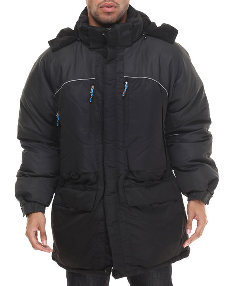 Basic Essentials - Men Black Avalanche Down Parka