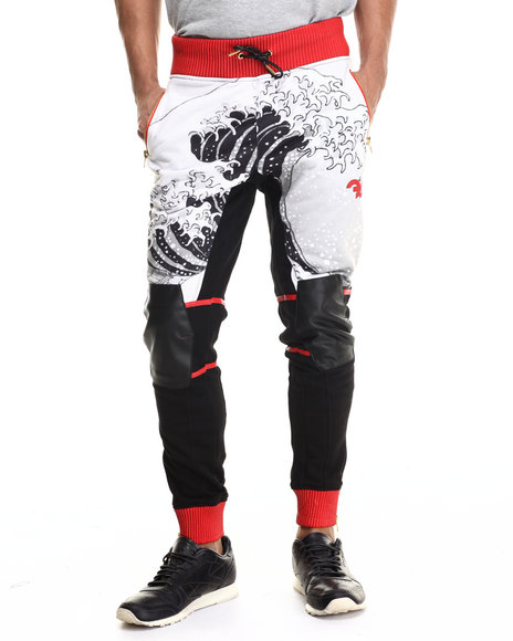 Frost Originals - Men Black Tsunami Sublimated Jogger Pant - $192.99