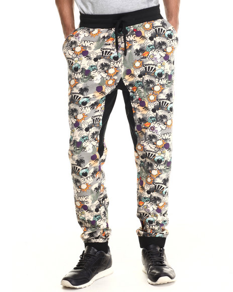 Ecko - Men Grey Printed Fleece Jogger Pants - $19.99