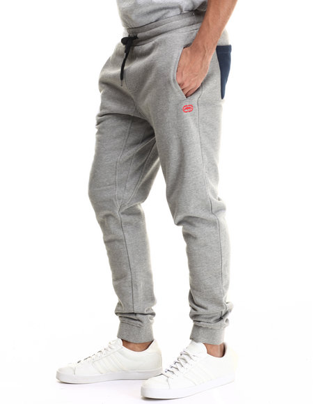 Ecko - Men Grey Rib Waistband Jogger Pant