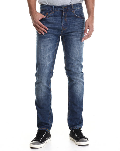 Rocawear Blak - Men Medium Wash Blak Slim Fit Jeans