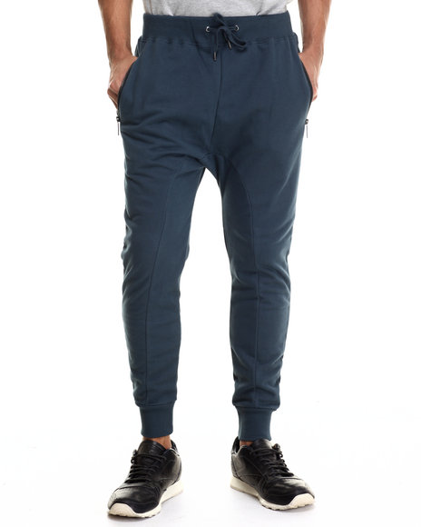 Entree - Men Navy French Terry Joggers