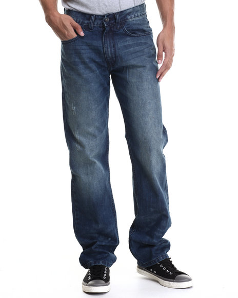 Rocawear - Men Blue Volume Classic Fit Jeans