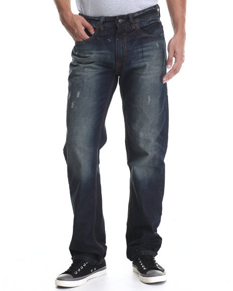 Rocawear - Men Dark Wash Volume Classic Fit Jeans