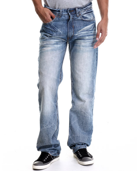 Rocawear - Men Light Wash Volume Classic Fit Jeans