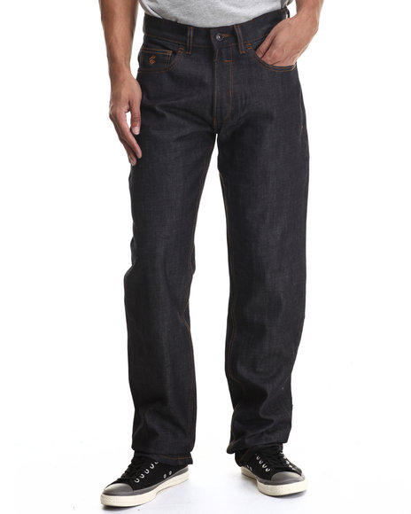 Rocawear Blak - Men Raw Wash Volume Classic Fit Jeans