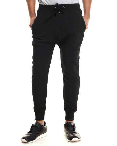 Entree - Men Black French Terry Joggers