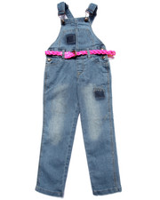 Sizes 7-16 - Big Kids - Diva Belted Skinny Overalls (7-16)