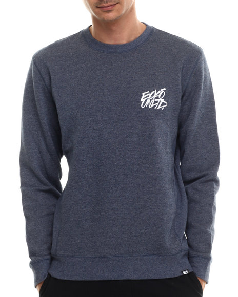 Ecko - Men Blue Novelty Heather Sweatshirt
