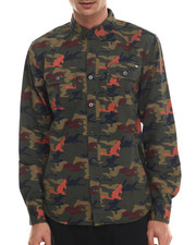 Men - Camo Print L/S Button-Down