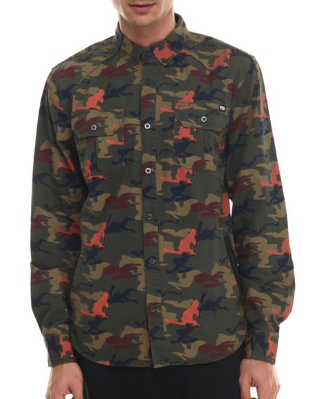 Ecko - Men Camo Camo Print L/S Button-Down