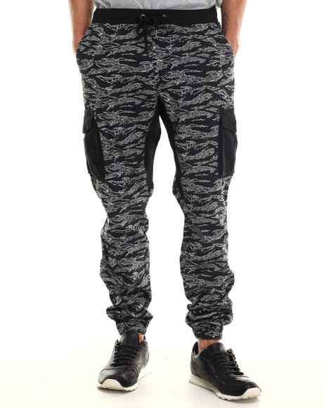 Ecko - Men Black Tiger Camo Cargo Jogger