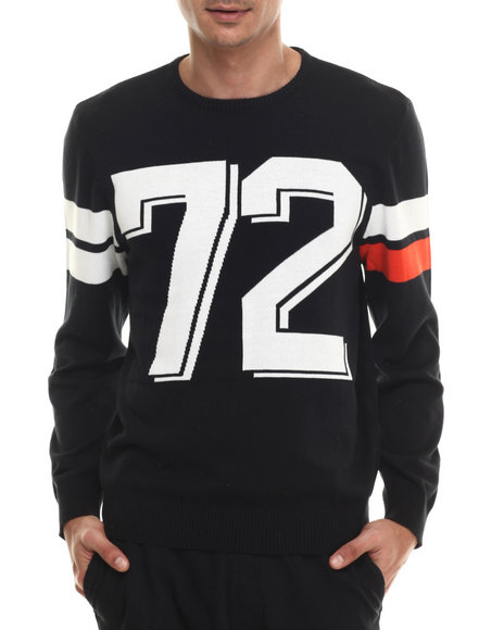 Ecko - Men Black Jacquard Crew Sweatshirt