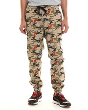 Jeans & Pants - Camo Print Twill Jogger