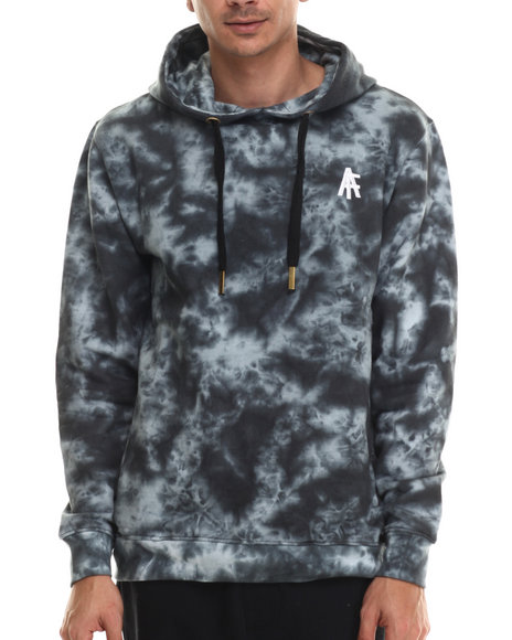 Ur-ID 206954 Buyers Picks - Men Black Agents Acid Wash Pullover Hoody