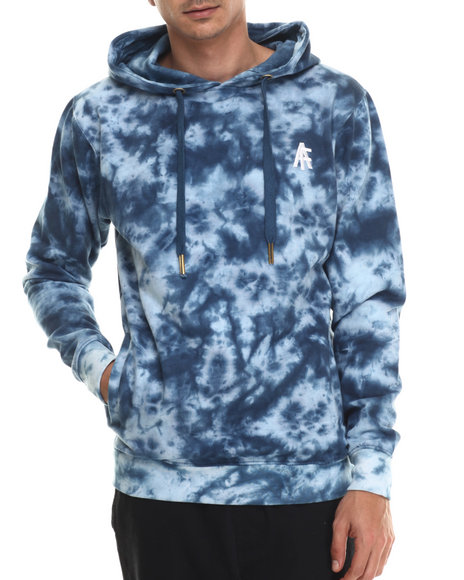 Buyers Picks - Men Navy Agents Acid Wash Pullover Hoody